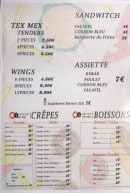 Menu Delice saint-pierre - Les sandwiches, tex mex, wings...