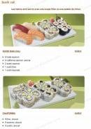 Menu Tsubaki House - Les menus Sushi cali