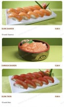 Menu Tsubaki House - Les menus sushis saumons, chirashis saumons,.....