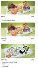 Menu Tsubaki House - Les menus Sushi cali suite