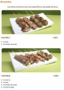Menu Tsubaki House - Les menus brochettes