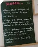 Menu La Fille de Zorba - Exemple de menu