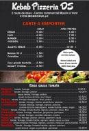 Menu DS Pizzeria Kebab - A emporter