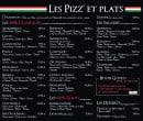 Menu Il Gusto Italiano - Pizzas, salade et desserts