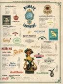 Menu Café Brun - Les cocktails, alcools,....