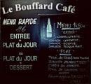 Menu Le Bouffard Café - Les menus