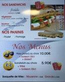 Menu Lotophage - Menus, sandwiches et paninis