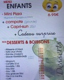 Menu Lotophage - Menu enfant et desserts