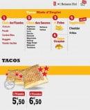 Menu Mangez Moi - Les tacos