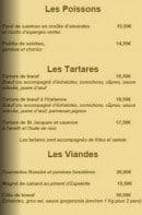 Menu Simeone Dell'Arte - Les poissons, les tartares ...