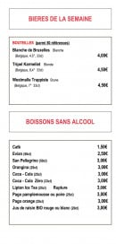 Menu Wine more time - Bières et boissons