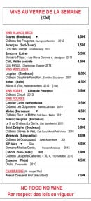 Menu Wine more time - Vins au verre