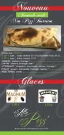 Menu Allo Pizza - Formules et glaces