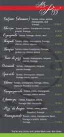 Menu Allo Pizza - Les pizzas speciale et calzones
