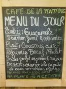 Menu Caé De La Fontaine - Le menu du jour