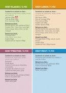 Menu Kosy Sandwich - Les nouveaux menus