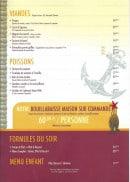 Menu Le Cabanon - Les viandes, poissons et menus