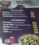 Menu Minut'Burger - Salades et desserts