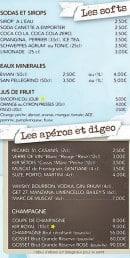 Menu Cote Mer - Boissons et apéro