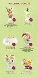 Menu Le Ty'Zac - Les desserts glacés