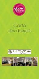 Menu Le Ty'Zac - La carte des desserts