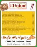 Menu L'Union - Les pizzas