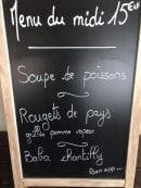 Menu Entre nous - Exemple de menu