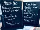 Menu Le Boucan - Un exemple de menu du jour