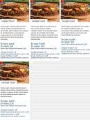 Menu Frenchie's tacos - Sandwiches toastés