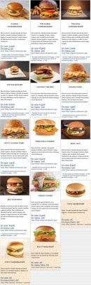 Menu Frenchie's tacos - Les burgers