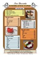 Menu May Lajoie aux Papilles - Desserts