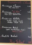 Menu Fringales & Délices - Les sandwiches