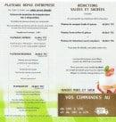 Menu L'assiette Volante - Les plateaux et reduction salé
