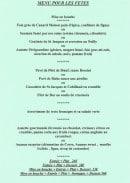 Menu L'assiette Volante - Les menus pour les fêtes