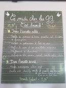 Menu Les Grands Gamins - Exemple de menu