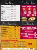 Menu So Pizza Burger - Burgers, desserts, sandwiches,....