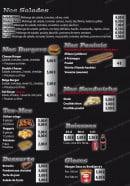Menu Brooklyn Pizza - Les salades, burgers,...