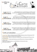 Menu La Minoterie - Informations