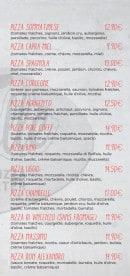 Menu La Chandelle - Les pizzas suite et fin