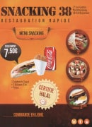 Menu Snacking 38 - Carte et menu Snacking 38 Roussillon