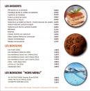Menu Picual - Desserts et boissons