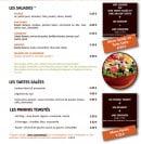 Menu Picual - Salades, tartes et paninis