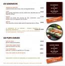 Menu Picual - Sandwiches et plats chauds