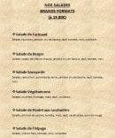 Menu Le Farinaud - Salades