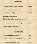 Menu Le Farinaud - Viandes et fromages
