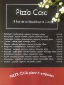 Menu Pizz'a Casa - Pizzas