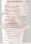 Menu La petite taverne - Les desserts