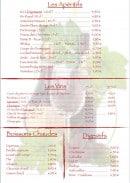 Menu La petite taverne - Les apéritifs, les vins ...