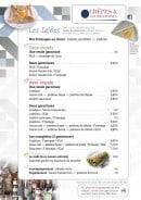 Menu Crêpes & Gourmandises - Les salées