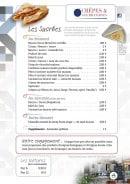 Menu Crêpes & Gourmandises - Les sucrées